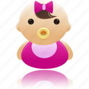 baby, child, girl, newborn icon