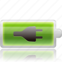 battery, cell, charge, charged, charging, electric, electricity, energy, power icon