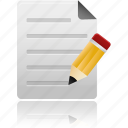 edit, file, document, sheet, paper, files, data