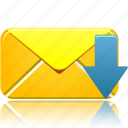 download, email, envelope, letter, mail, message, receive, send icon