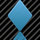rhombus, shape, draw, filled