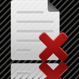 delete, document, documents, file, files, paper, remove icon