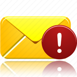 alert, attention, email, envelope, error, letter, mail, message, warning icon