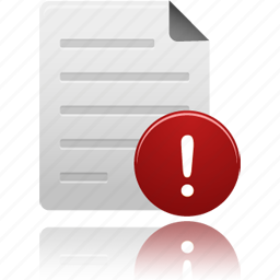 Alert Attention Document Documents File Files Paper Warning Icon