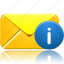 email, envelope, info, information, letter, mail icon