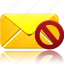 email, envelope, invalidated, letter, mail, message, not, send, validated icon