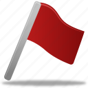 flag, red icon
