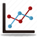 analytics, bar, business, chart, charts, diagram, finance, graph, line, pie, report, statistics icon