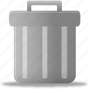 bin, can, delete, empty, full, recycle, remove, trash icon