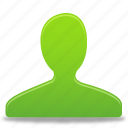 account, green, male, man, profile, user icon