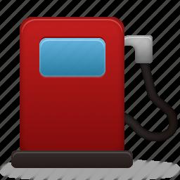 fuel, gas, gasoline, oil, pump, station, transport, transportation, travel icon