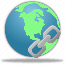 browser, connection, earth, globe, hyperlink, insert, internet, link, network, planet, web, world icon