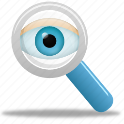 find, magnifying glass, monitor, monitoring, search, view, watch, zoom icon