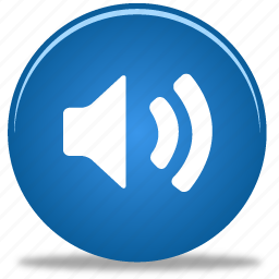 audio, button, control, media, music, on, play, player, sound, speaker, video, volume icon