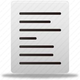align, document, documents, file, files, left, text icon