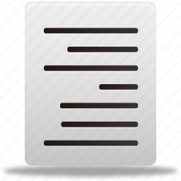 align, document, documents, file, files, paper, right, text icon