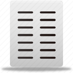 align, columns, document, documents, file, files, text icon