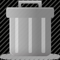 bin, can, delete, empty, full, recycle, remove, trash icon