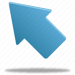 arrow, left, up, upleft icon