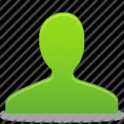 account, green, male, man, profile, user icon