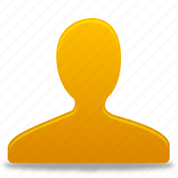 account, male, man, people, profile, user, users, yellow icon