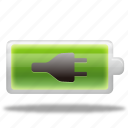 battery, charge, charged, charging, electric, electricity, energy, power icon