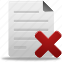 delete, document, documents, file, paper, remove icon