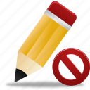 document, edit, not, pencil, validated, write icon