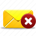 delete, email, envelope, letter, mail, remove icon