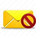 email, envelope, invalidated, letter, mail, message, not, validated icon