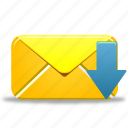 email, envelope, letter, mail, message, receive icon