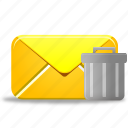 delete, email, envelope, letter, mail, remove, trash icon