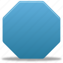 draw, filled, octagon, shape icon