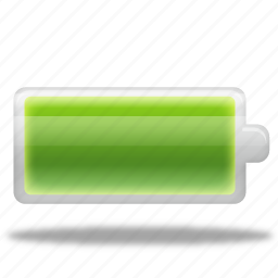 battery, electric, electricity, energy, full, recycle icon
