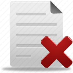delete, document, documents, file, paper, remove icon