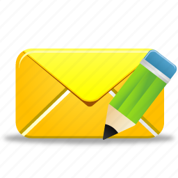 edit, email, envelope, letter, mail, pencil, write icon