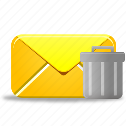 delete, email, envelope, letter, mail, remove, trash icon