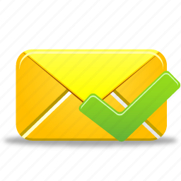 email, envelope, letter, mail, message, send, validated icon