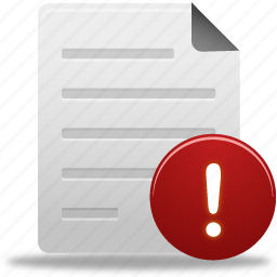alert, document, documents, file, paper, text, warn, warning icon