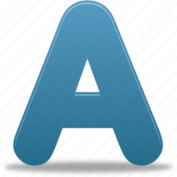 a, font, letter, message, text icon