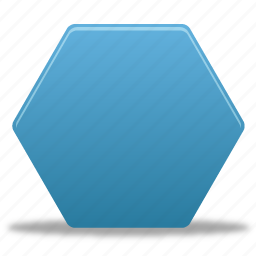 draw, filled, hexagon, shape, shapes icon