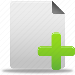add, document, documents, file, new, paper, plus icon
