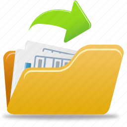 document, documents, file, folder, open, paper icon