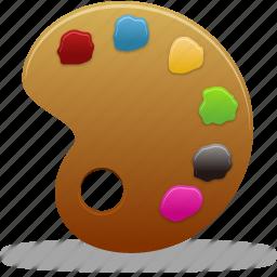 art, brush, color, design, graphic, paint, palette icon