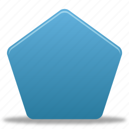 draw, filled, pentagon, shape, shapes icon