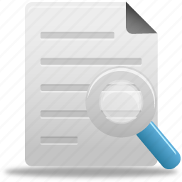 document, documents, file, find, paper, search, zoom icon
