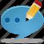 bubble, chat, comment, edit, message, pencil, talk, write icon