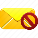email, envelope, invalidated, letter, mail, message, text icon