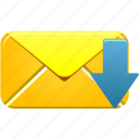 download, email, envelope, letter, mail, message, receive icon