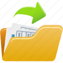 document, file, open, paper icon